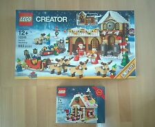 Lego 40139 Ginger Bread House Christmas and Lego 10245 Santa's Workshop Bundle