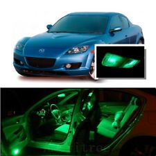 For Mazda RX8 2004-2014 Green LED Interior Kit + Green License Light LED