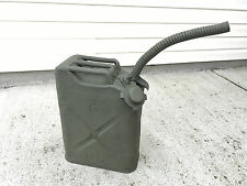 ORIGINAL WWII US MILITARY VEHICLE JERRY CAN & SPOUT~ GAS 1952 WILLYS JEEP MB GPW