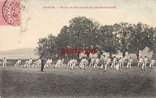 1906 FRANCE Autin Ecole de Cavalerie La Gymnastique, men exercizing in uniform