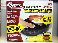 "NEW NuWave 2 Precision Portable Induction Cooktop 9"" Ceramic Pan Cook"