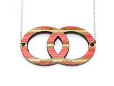 Recycled Skateboard, Skateboard Necklace, SESH Necklace, Circle Necklace