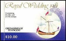Gren St. Vincent 1981 SG#SB5 Royal Wedding Stamp Booklet FDI MNH #C37492