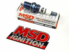 MSD IRIDIUM SPARK PLUGS FOR 01-05 HONDA CIVIC 1.7L - FREE MSD EMBLEM