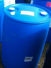 55 GALLON PLASTIC BARREL CLOSED TOP BUNG CAPS BLUE FOOD GRADE CLEAN RAIN