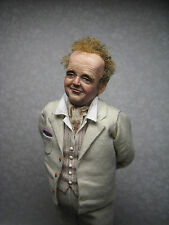 OOAK, Miniature Hand Sculpted Doll House Doll, Inspired by Toby Jones