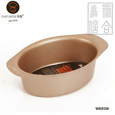 """CHEFMADE 5"""" Oval-Shape Cheese Cake Baking Tray Non-Stick Bakeware- WK9138"""