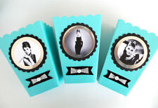 Audrey Hepburn Inspired party favors, 10 boxes, breakfast at Tiffanys theme