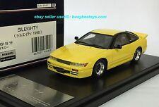 1/43 HI STORY HS118YE NISSAN S13 SILEIGHTY SIL80 BASED ON SILVIA 180SX model car