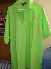 Men's Port Authority Short Sleeve color Celery Green Shirt Size L with Logo