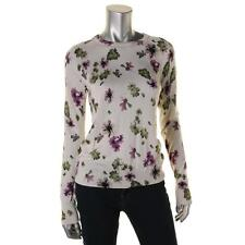 Equipment 0098 Womens Ivory Silk Blend Floral Print Pullover Top Sweater S BHFO
