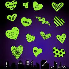 Adesivo da parete Cuore Amore Love XL luminosi Fluorescente