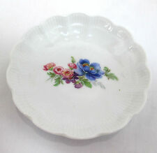 """Kaiser Pin Dish W. Germany German Romantica Floral Pink and Blue 4""""dia Porcelain"""