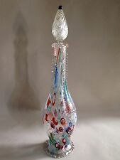 Gorgeous Vintage Fratelli Toso Millefiori Decanter