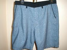 Men's HURLEY POLYESTER GOLF EVERY DAY CASUAL POLYESTER SHORTS SZ 28 BLUE/BLACK