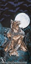 ALCHEMY DARK GOTHIC LOUPS GAROU CHAINED WEREWOLF  100% COTTON BEACH TOWEL