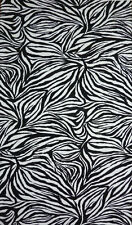 Mid Weight Parquet Textured Jersey Zebra Skin Print Dress Fabric Material