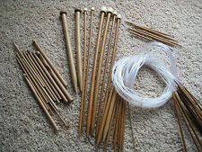 Knitting Needles Bamboo CHOOSE ANY 10 sets of Single, Double, Circular, Crochet