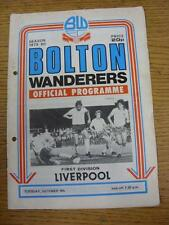 09/10/1979 Bolton Wanderers v Liverpool  (Creased, Worn, Punched Holes)