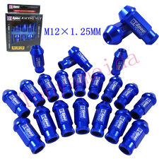 D1 SPEC JDM RACING WHEEL LUG NUTS M12X 1.25MM BLUE FOR Nissan Subaru infiniti
