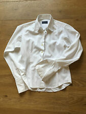 GORGEOUS CRICHTON LONDON WHITE SUBTLE STRIPE BLOUSE SHIRT UK 12 COST £120