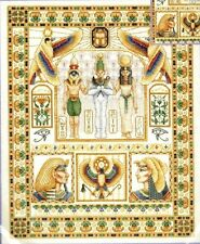 Wentzler EGYPTIAN SAMPLER Counted Cross Stitch Kit Pharoah gold beads