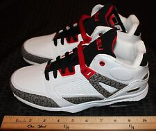 FUBU Mens Athletic Mid Ankle Tennis Shoes Size 8 White Grey Black Red Item #1