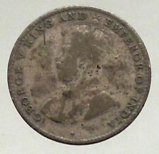 1920 - CEYLON now SRI LANKA  - Silver 10 Cents - under UK King GEORGE V - i56866