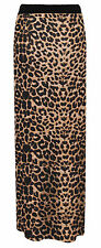 LADIES WOMENS JERSEY MAXI GYPSY SKIRT BODYCON SUMMER DRESS SIZE 8-26