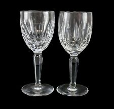 "2pc Waterford Crystal Kildare 6 1/2"" Claret Wine Glasses"
