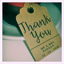 Custom Thank You Wedding Favour Tags MINI Price Luggage Label Personalised