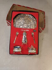 Silver Plate Cruet Set , Salt & Pepper  ref 2250