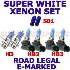 ALFA ROMEO SPIDER 1996-ON  SET HB3  HB3  H3  501  XENON LIGHT BULBS