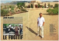Coupure de presse Clipping 2012 (4 pages) John McAfee le fugitif