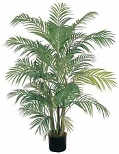 Nearly Natural 5001 Areca Decorative Silk Palm Tree- 4-Feet- Green NEW