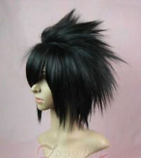 Short Uchiha Sasuke black Anime Cosplay wig wigs