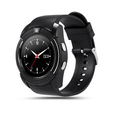 V8 Bluetooth Smart Watch Health Clock Fitness SIM Fitness for Android Black
