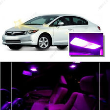 For Honda Civic 2006-2012 Pink LED Interior Kit + Pink License Light LED