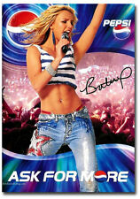 "Britney Spears With Pepsi Cola Poster Fridge Magnet Size 2.5"" x 3.5"""