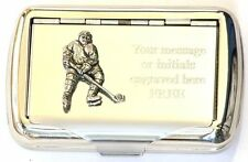 Ice Hockey Player Tobacco Hand Rolling Cigarette Tin Winter Sports NHL Gift
