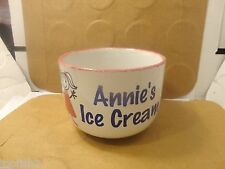 "Annie's Ice Cream Bowl, 3 1/2"" Tall, #00051897, Clay Design (Used/EUC)"