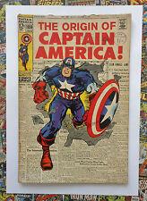 CAPTAIN AMERICA #109 - JAN 1969 - ORIGIN RETOLD! - VG+ (4.5) RARE CENTS COPY!