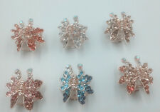 HOT 1pcs butterfly claw Crystal alloy Rhinestone Hair Clip Jaw Hairpin *6