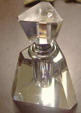 Triangular Shaped Crystal Perfume Bottle