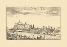 Graz Haubtstatt im Herzogthum Steyer Vischer Österreich Burgen und Schlösser 110
