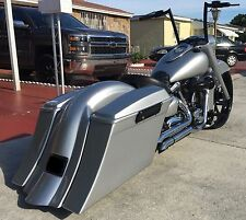 YAMAHA Road Star Stretched Saddlebags replacement fender & 6x9 lids Fits 99 &up