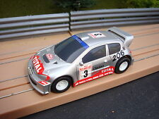 BRAND NEW MICRO SCALEXTRIC  PEUGEOT 206 RALLY CAR - NEVER BEEN USED