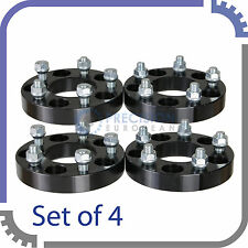 "4pc 25mm (1"") Black Wheel Adapters - Converts 5x114.3 to 5x100
