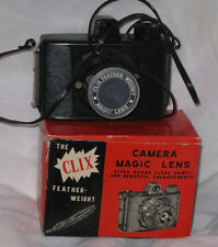 Clix Feather Weight Toy Camera Made in Hong Kong Uses 127 Roll Film New Boxed