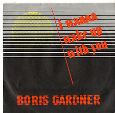 """Boris Gardiner - I Want To Wake Up With You / Version 7"""" Sgl 1986"""